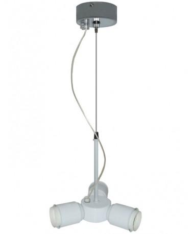Pendel Blanco 3 Luces Con Un Cable De Acero