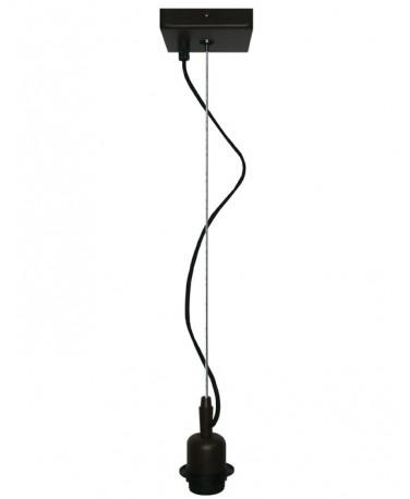 Colgante 1 Luz Con Un Cable De Acero Con Floron Cuadrado