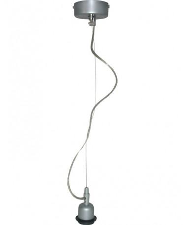 Colgante 1 Luz Con Tensor Y Un Cable Transparente