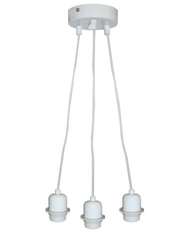 Colgante Tres Luces Con Tres Cables Transp.