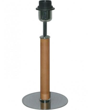 Sobremesa De Madera Color Miel 30 Cm Con Base Redonda De 15 Cm