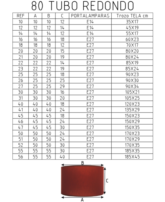 80 tubo redondo tela cliente ilexpa - Tubo fluorescente redondo ...