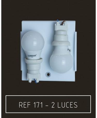 Placa 2 luces