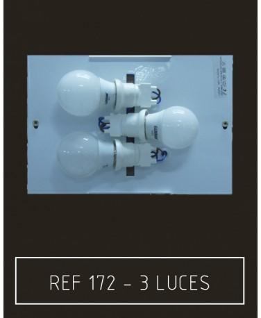 Placa 3 luces