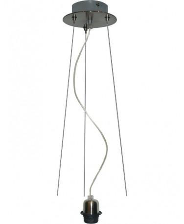 Pendel 1 Luz Con Tres Cables De Acero En Un Repartidor Redondo