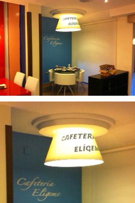 Iluminacion de cafeteria eligeme