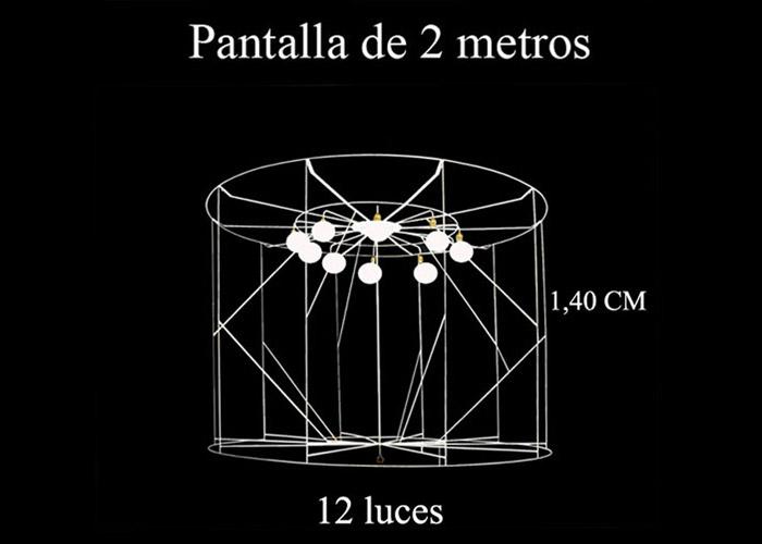 Lámpara 2 metros