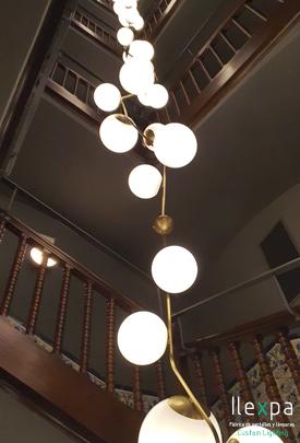 Proyecto Iluminación Escalera Hotel en Madrid