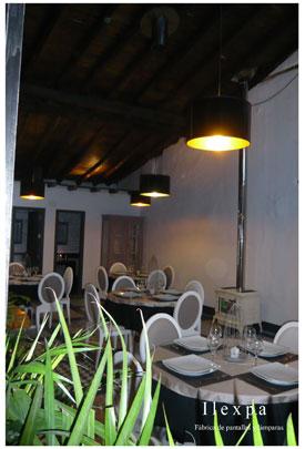 Proyecto Contract iluminación restaurante El Sitio