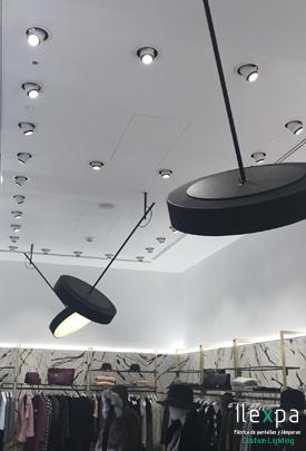Proyecto Valentino Iluminación Tienda de Ropa