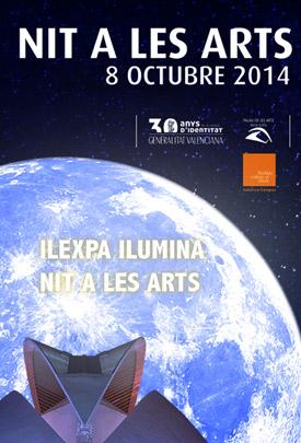 Proyecto iluminación Nit a les Arts 2014