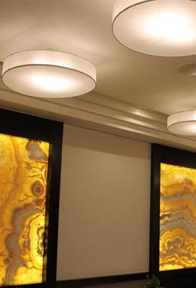 Proyecto iluminación restaurante con plafones
